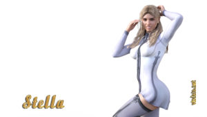One of the heroines of the Cyberenic cycle, adult games, charming and cunning girl Stella